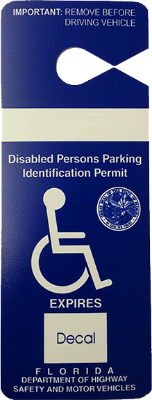 Disabled parking pass