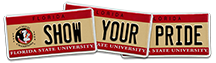 Show Your Pride - FSU License Plate