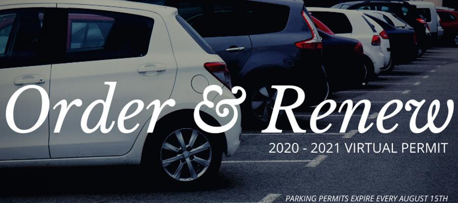 Order and Renew Virtual Parking Permit 2020 - 2021